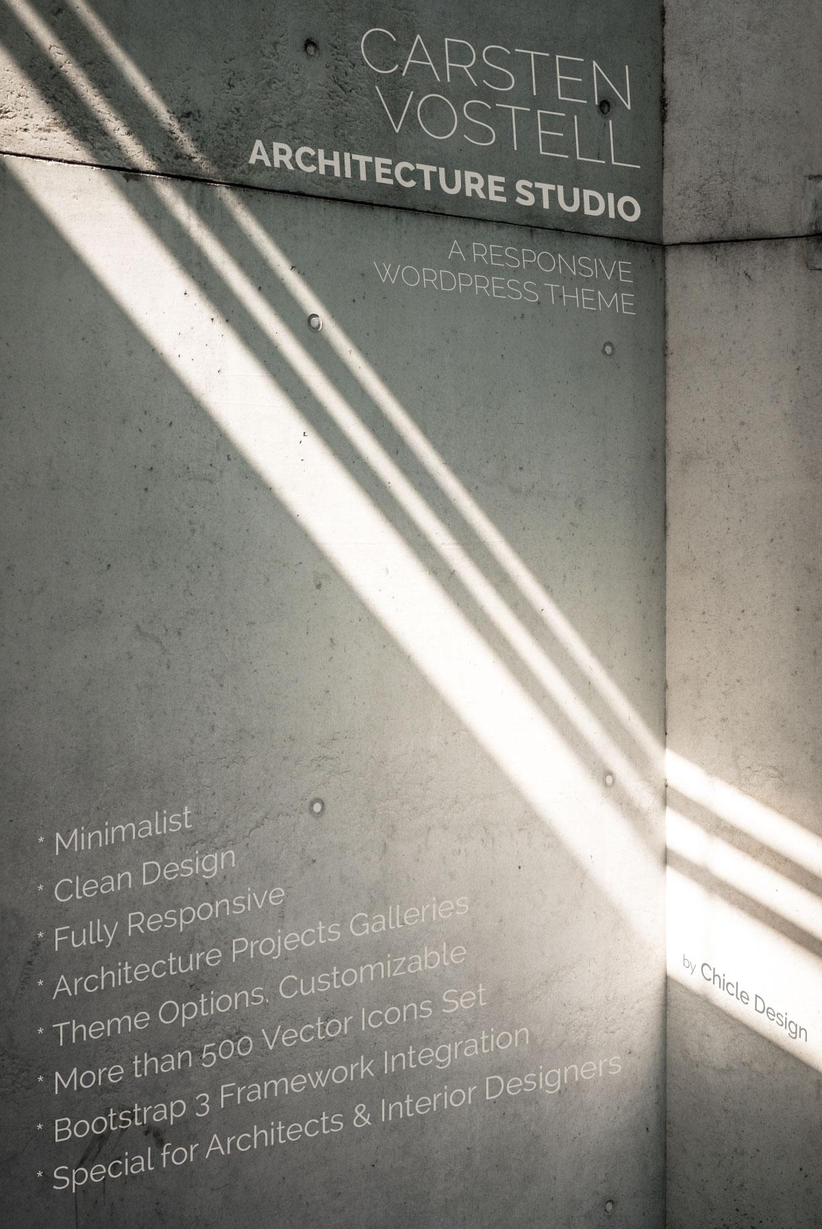Carsten Vostell Architecture Studio WordPress Theme